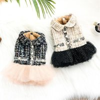 Dog Apparel Dress Princess Skirt Winter Clothes Cute Lace Pearl Pet Wedding Cat Poodle Bichon Pomeranian Schnauzer Costume