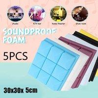 Window Stickers 5PCS Studio Acoustic Soundproof Foam Sound Absorption Treatment Panel Tile Wedge Sponge