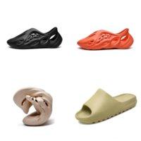 W0AA4 Kemik Kalitesi Kanye Erkek Terlik Ayakkabı Köpük Koşucu Siyah Terlik Kırmızı Batı Slayt Reçine Casl Beyaz Yüksek Çöl Kum Earth Kanye Sandalet