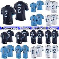 2 Julio Jones Jersey 17 Ryan Tannehill 22 Derrick Henry 11 A.j. Braune Männer genäht NFL Tennessee Titans Fußball Nike Limited Trikots