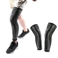 Elbow & Knee Pads Elasticity Long Full Compression Leg Warmer Running Basketball Volleyball Non Slip Silicone Sleeves Soft Comfortable