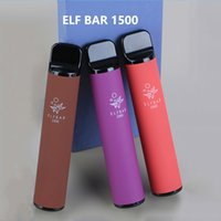ELF Bar 1500 Puffs Disposable electronic cigarette elfbar vape Pods E Cigarettes Device 850mAh Battey 4.8ml Pod Prefilled Vapes Kit vaporizer VS Puff plus