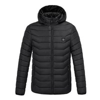 Hooded 2 Places Heated winter Electric heating jacket USB interface Electrics hoodeds cotton camping hiking huntings warm jackets