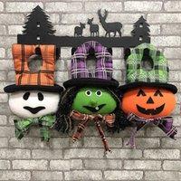 Ny Halloween semesterfest hängande dörr docka pumpa häxa spöke form hemvägg dekoration props grossist