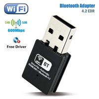 600Mbps USB WiFi Adapter Bluetooth 4.2 Free Driver RTL8192 chips IEEE802.11AC b g n 2.4G 600M Wireless Receiver Network Card Dongle for Desktop Laptop Windows