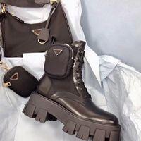 Короткие ботинки зимние сапоги Martin Дамы мода Горячие продажи All-Match Knight Boots с небольшими карманами из толстой мягкой кожи комфорт