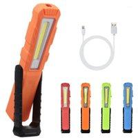 휴대용 랜턴 XPE COB LED 작업 조명 750mAh USB 충전식 펜 자석 240 ° 검사 램프 빨간 스트로보 경고 Light1