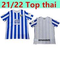 21 22 Malaga Soccer Jerseys Málaga K. Bare Juanpi Adrian CF Football Shirt Bar Casas Juankar Camiseta de Fútbol Juande Hombres Hombres