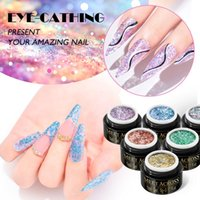 Nail Gel Meet Across Sequins Glitter Holographic Powder Dust Dazzling Manicure Sparkly Paillette Chunky Chameleon Decorations