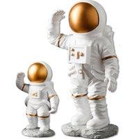 Yaratıcı Reçine Uzay Astronot Süslemeleri Danışma Yumuşak Dekorasyon Stüdyo Kitaplık Modern Ev Mobilyaları Ev Hediyeler El Sanatları Koleksiyonu 322 S2