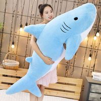 Shark pillow PLUSH TOY CUTE long sleeping great white shark children's gift boy doll