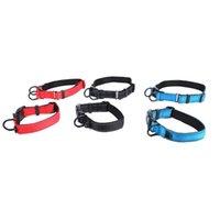 Dog Collars & Leashes Fashion Comfortable Luminous Adjustable Nylon Foam Collar Leash Pet Products Red Blue Wholesale