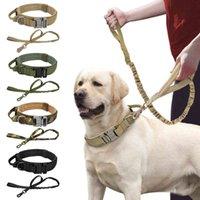 Collier tactique tactique militaire de chien forte Laisse à l'élastique durable Colliers de formation en nylon durable avec poignée de gros chiens Bulldog français