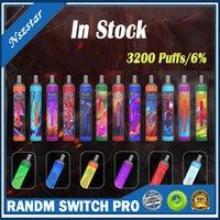 Authentic Sigarettes RANDM Switch Pro 2in1 Dispositivo monouso Pod Device Vape Pen 3200 sbuffi con batteria luminosa RGB ricaricabile