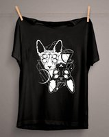Coole goth thot twin sphynx katze ästhetik thirt tod metall witchy tee punk gothic unsex grunge tops harajuku tshirt