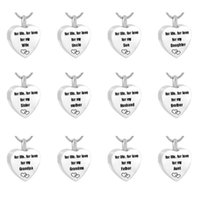 Pendant Necklaces Cremation Jewelry Urn Necklace For Ashes 'for Life Love My Dad' Keepsake Heart Memorial