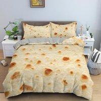 Bedding Sets Plain Corn Tortilla Texture Bed Cover Luxury Burrito Set 3D Pita Lavash Comforter Queen Bedspreads