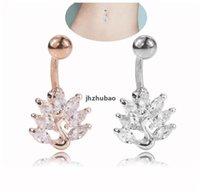 2021 Nouveau paon plaqué or zircon pangle nombril belly anneaux de nombril bagues piercing bijoux