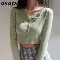 Korean O-neck Short Knitted Sweaters Women Thin Cardigan Fashion Short Sleeve Sun Protection Crop Top Ropa Mujer Spring 210610