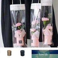 Креативный цветочный ящик мини букет цилиндр портативный круглый цветок ведра для хранения подарков подарок PVC флорист сумка свадьба бумажная коробка