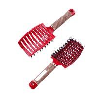 Hair Scalp Massage Comb Hairbrush Bristle Nylon Women Wet Dry Curly Detangle Hair Brush Salon Hairdressing Styling Tool Dropship