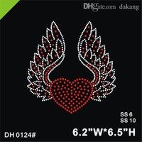 Free shipping heart sticker rhinestones motif hot fix rhinestone transfer motifs iron on applique patches design stone DIY DH0124#
