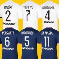 Mbappe Verratti Ken PSG Soccer Jersey 2020 2021 di Maria Kimpembe Marquinhos Icardi PRE-abbinamento Camicia da calcio 20 21 Men + Kid Kit