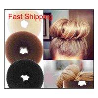 24 pcs cabelo volumizando scrunchie donut anel estilo bun scrunc qylnxi dh_seller2010