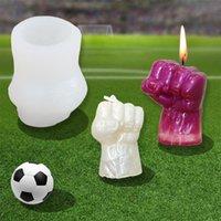 Handwerkzeuge DIY Ball King Memorial Handgemachte Kerze Silikonform GOTT Hand Mold Boxer Gipsdekoration