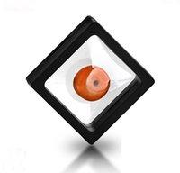 400pcs / lot 7x7x2cm, membrane di plastica trasparente della foto del telaio della foto / scatola di raccolta / scatola dei gioielli con due membrane chiare - noi stessi