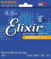 1 مجموعة Elixir 12077 سلاسل من أجل قياس الغيتار الكهربائي 10-52 خفيفة الثقيلة