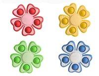 Empurre seus brinquedos de descompressão de Pops Fidget 10 * 10 cm Tamanho Multicolor Fingertip Spinner Recurso Popper Bubble Fingertip-Sensory Toy para Crianças Presentes