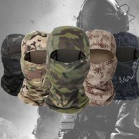 Cycling Caps & Masks Tactical Full Face Balaclava Mask Military Camouflage Wargame Helmet Liner Cap Bicycle Ski Scarf