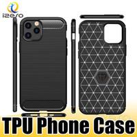 Cassa del telefono in fibra di carbonio per iPhone 12 Pro MAX 11 XR 8 Plus LG Stylo 7 5G K92 TPU Casi di cellulare protettivo Izeso
