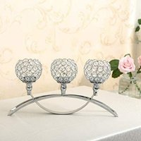 Candle Holders 3 Arms Crystal Holders,Table Candelabras,Buffet Cabinet Candelabra Ornaments Table Centerpieces For Wedding Room Qq485