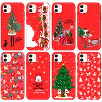 Mobile Cell Phone Cases For Iphone 12 13 11 Pro Max X Xr Xs 8 7 Plus Christmas Gingerbread Man Tree Elk Red Frosted Soft Shell