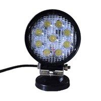 作業ライト27W LEDの仕事9ピース* 3Wラウンドフラッドライトオフロードの洪水反転ランプトラックオートバー検査