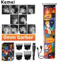 KEMEI KM 5017H T-Shape Trimmer Mens Profissional Moda Graffiti Hair Clipper Acabamento De Corte De Cabeleireiro