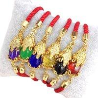 Charm Bracelets Red String Piyao Animal Lucky Bracelet Adjustable Cord Bangle Jewelry Gift