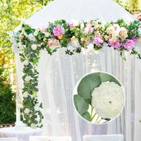 Decorative Flowers & Wreaths Artificial Rose Vine Hanging For Wall Decoration Rattan Fake Plants Leaves Garland Romantic Wedding Home