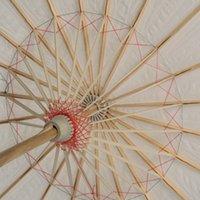 Paraguas de papel de bambú blanco Árabes de papel engrasado Umbrella DIY creativo pintura en blanco paraguas novia boda parasol 182 S2