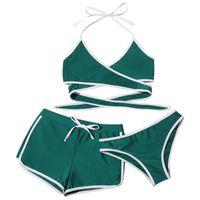 Women's Swimwear Summer Three-piece Set Fashion Swimsuit Push Up High Cut V Neck Beachwear Bikini Swimming Biquini