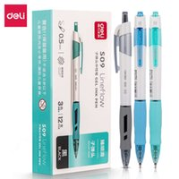 S09 Deli Office Gel Pen 0.5mm Spring Head Ball Point Commonly Used by Primary and Secondary School Students