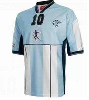 2001 Armando Maradona Retro Home Fussball Jersey Camiseta Argentinien Partido HomeAje Diego Maradona Ruhestand Fußball Hemd