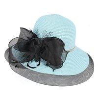 Sombreros de ala ancha collectible arco removible sombreado mujer sombrero de paja protección solar sol verano playa visor