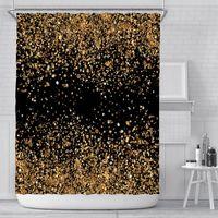 Cortina nueva creativa cortina digital cortina impermeable poliéster cortina cortina sombrilla cortinas de ducha personalización al por mayor bwd5460