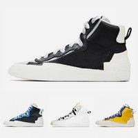 En Kaliteli Siyah Gri Blazer MIS Ile Erkek Koşu Ayakkabıları Yüksek Kesim Beyaz Gri Camo Beyaz Kırmızı Siyah Üniversitesi Mavi Erkekler Spor Sneakers 40-45