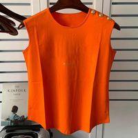 أزياء المرأة مصمم القمصان الصيف المرأة عالية الجودة الملابس الأعلى قصيرة الأكمام بلا أكمام للإناث حجم S-L