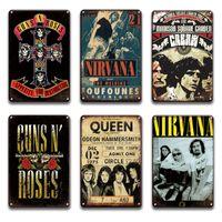 2021 rock n roll cartaz de metal cartaz sinal vintage nirvana placa placa sinal bar homem caverna decorativa sala de placa decoração