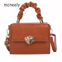 Новая мода женская сумка корейский издание сплошной цвет каменного зерна маленькая квадратная сумка магнитная кнопка женское плечо